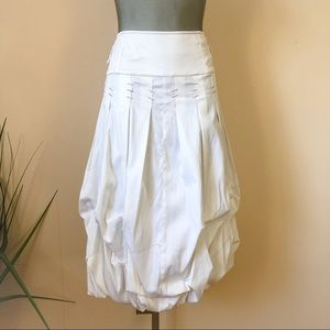 White Tiered Bubble Skirt w/ Silver Details